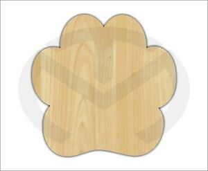 Unfinished Wood Paw Print Laser Cutout Wreath Accent Door Hanger Paint Ready $9.14