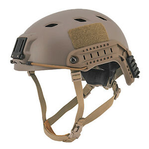 Lancer Tactical Airsoft FAST Base Jump TAN Military Replica RIS Helmet CA-334T