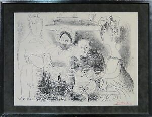 Pablo Picasso small edition large lithograph Picasso with Gertrude Stein $6750.00