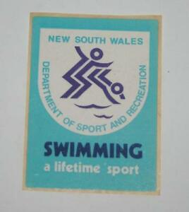 Retro Sticker Swimming A Lifetime Sport NSW Dept of Sport and Recreation