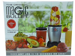 The Original Magic Bullet 11 Piece Set Blender amp; Mixer Small Silver Brand New $42.99