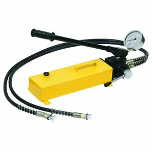 Double Acting Hydraulic Hand Pump w Pressure Gauge (10000 psi - 183 in3) B-700S