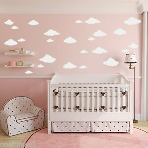 Clouds Wall Decal 24 Child's Bedroom Nursery Baby Kids Vinyl Sticker Decor