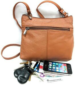 Genuine Leather Every Day Purse Shoulder or Cross Body Slim Light Weight amp; Soft $15.99