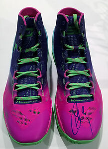 Stephen Curry Golden State Warriors Signed Under Armour Shoe wJSA LOA Y70888