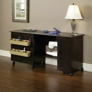 Sauder Craft and Mobile Sewing Cart in Cinnamon Cherry $173.05