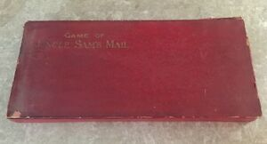 antique 1895 board game uncle sams mail