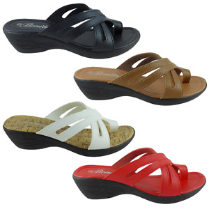 New Womens Sets Of Toe Sandals Wedge Shoes Low Heels HOPE-09