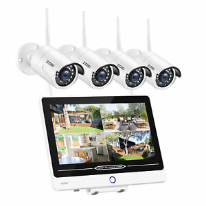 ZOSI 4CH 1080P Wireless Security Camera System 1TB HDD 4 2MP Bullet IP Cameras