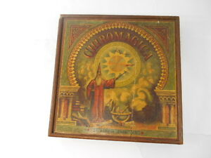 1879 bros chiromagica game wooden wizard litho box