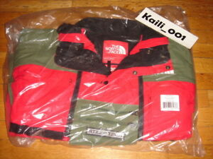 Supreme The North Face Steep Tech Jacket Olive Red Fleece SS 16 Hooded Black B