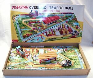 tps overland traffic game tin wind up toy 1960s