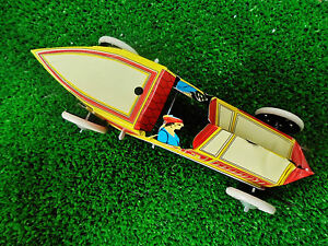 tin wind up race car repro complete with original