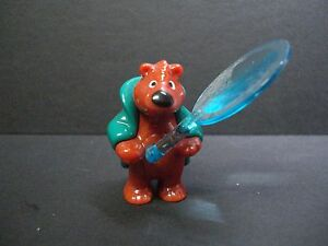 bear with magnifying glass figurine