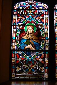 + 100 Year old Stained Glass Window of