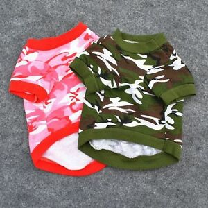 New Stylish Cute Camouflage Coat Small for Dog Cat Pet Shirts Apparel Clothing