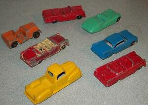 vintage tootsietoy car lot of 7