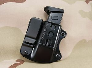 Double Stack Tuckable IWB Magazine Holster Holder  Mag Pouch: Fits 9mm 40 45