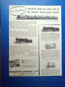 1952 advert for bassett lowke trains 10x7 5