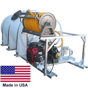 735 Gal COMMERCIAL Skid Mount Sprayer - 35 gpm 700 psi - Electric Hose Reel 300'