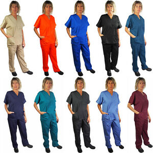 Natural Workwear Womens Authentic EDS Unisex Medical Uniform Cargo Scrub Set