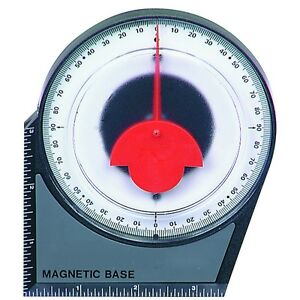 Dial Gauge Angle Finder Magnetic Protractor with Conversion Chart $9.99