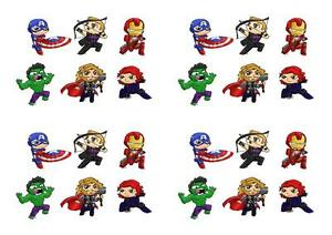 Avengers Scene STAND UP Fairy Cake Toppers Decorations Edible cake toppers GBP 1.99