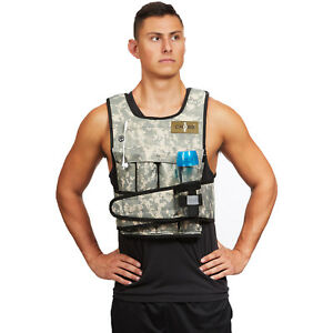 CROSS101 Camouflage Adjustable Weighted Weight Vest with Shoulder Pads