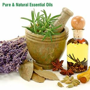100% PURE & NATURAL ESSENTIAL OILS & CARRIER OILS  5 ML to 500 ML