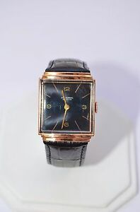 W548 Ladies UNIVERSAL Geneve 18K Rose Gold Manual Wind Watch on Leather Strap