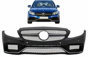 Bumper for Mercedes C-Class W205 C63 A-Design 14+ Limo Estate SW Cabriolet Coupe