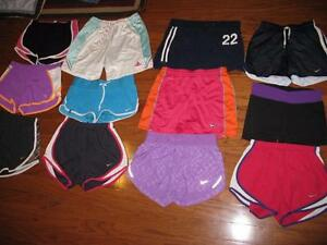 LOT 12 PAIRS ADULT WOMENS RUNNING SHORTS NIKE DRI-FIT ADIDAS OLD NAVY XS XSMALL