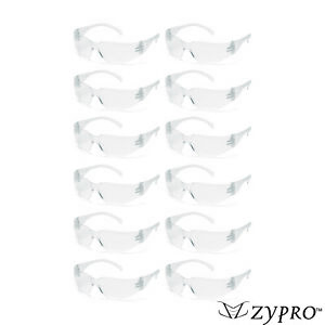 12 PAIR PACK Safety Glasses Protective Clear Lens Work UV ANSI Z87 Lot of 12 $10.59