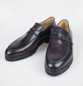 New BERLUTI SPORT Black Leather Loafers Dress Shoes Size 9 $2200
