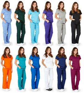 Ultra Soft Medical Nurse Uniform Premium Womens Junior Fit Mock Wrap Scrub Sets