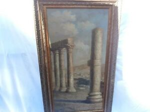 GIANT VERTICAL ARCHITECTURAL RUINS MASTERPIECE FOCAL POINT 1 OF 2 THAT PAIR