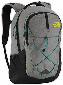 The North Face Jester Backpack Zinc Grey HeatherSulphur Spring Green Size One