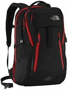 The North Face Router Backpack TNF BlackPompeian Red