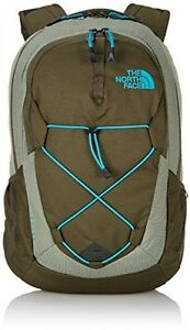 The North Face Unisex Jester Forest Night GreenEnamel Blue Backpack
