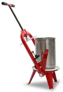 FRUIT PRESS 14L - Cross Beam Wine Press Home Brew Apple Press Fruit Crusher