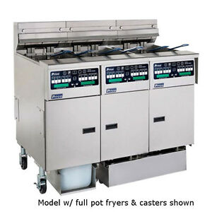 Pitco SELV14C-3FD Reduced Oil Volume Multi-Battery Electric Fryer- 3 Fryers