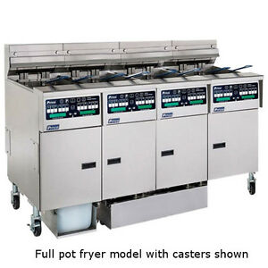 Pitco SELV14C-4FD Reduced Oil Volume Multi-Battery Electric Fryer- 4 Fryers