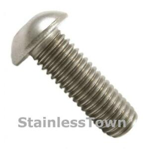 18-8 Stainless Steel Button Head Bolts 14-20 x 58 (8 Pack)