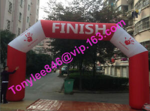 20ft wide Inflatable Finish Line ArchesCustom Inflatable Arches with UL blower