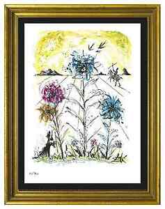 Salvador Dali Signed Hand Numbrd Ltd Ed quot;Flower Magicianquot; Litho Print unframed $99.99
