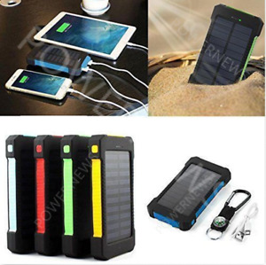 900000mAh Dual USB Portable Solar Battery Charger Solar Power Bank For Phone USA