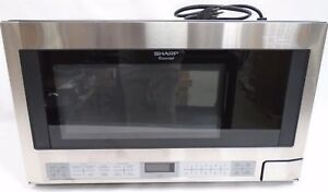 Sharp 1.5 CuFt Over the Counter 1100 Watt Stainless Steel Microwave Oven R-1214