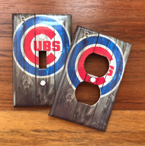 Chicago Cubs Baseball Fans Man Cave Light Switch Plate Cover FAST SHIP!!