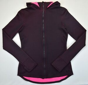 Under Armour 1285 Athletic Womens ColdGear Infrared Thermo Full Zip Hoodie Large