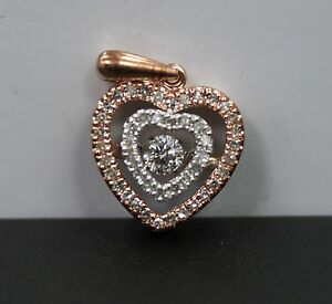 OTC 10k Rose Gold Floating Diamond Pendant App 1 3 cttw
